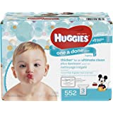 HUGGIES One and Done Refreshing Baby Wipes, Refill Pack (3-Pack, 552 Sheets Total), Scented, Alcohol-free, Hypoallergenic
