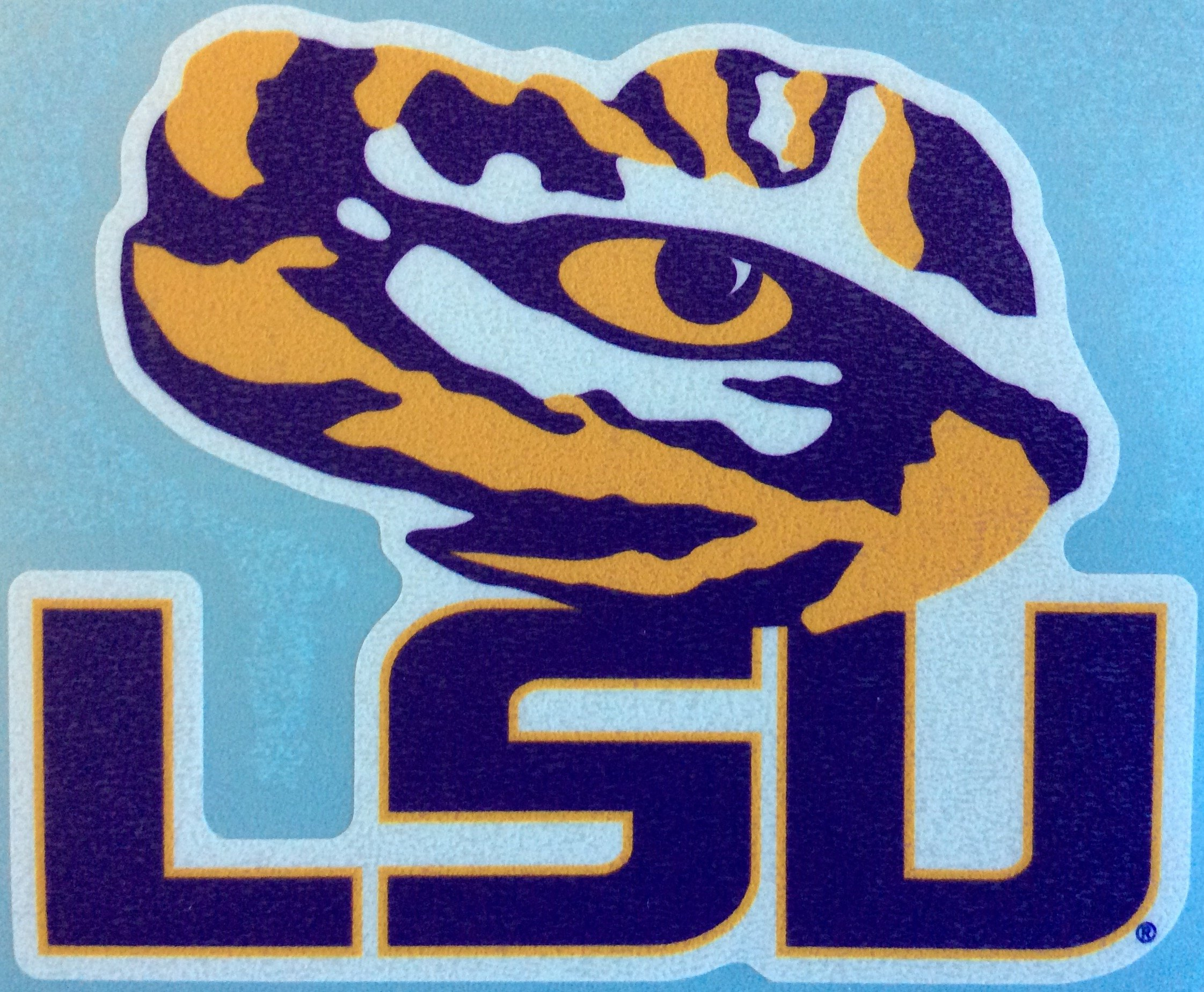 LSU Tigers, Large Tiger Eye/ LSU, Premium Decal, CORNHOLE
