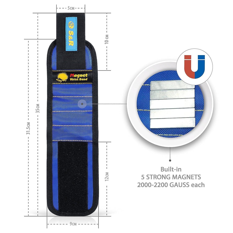 Pulsera Magn/ética y tornillos Ph-SL en regalo Soporte magn/ético de Cintur/ón para tornillos y Brocas.