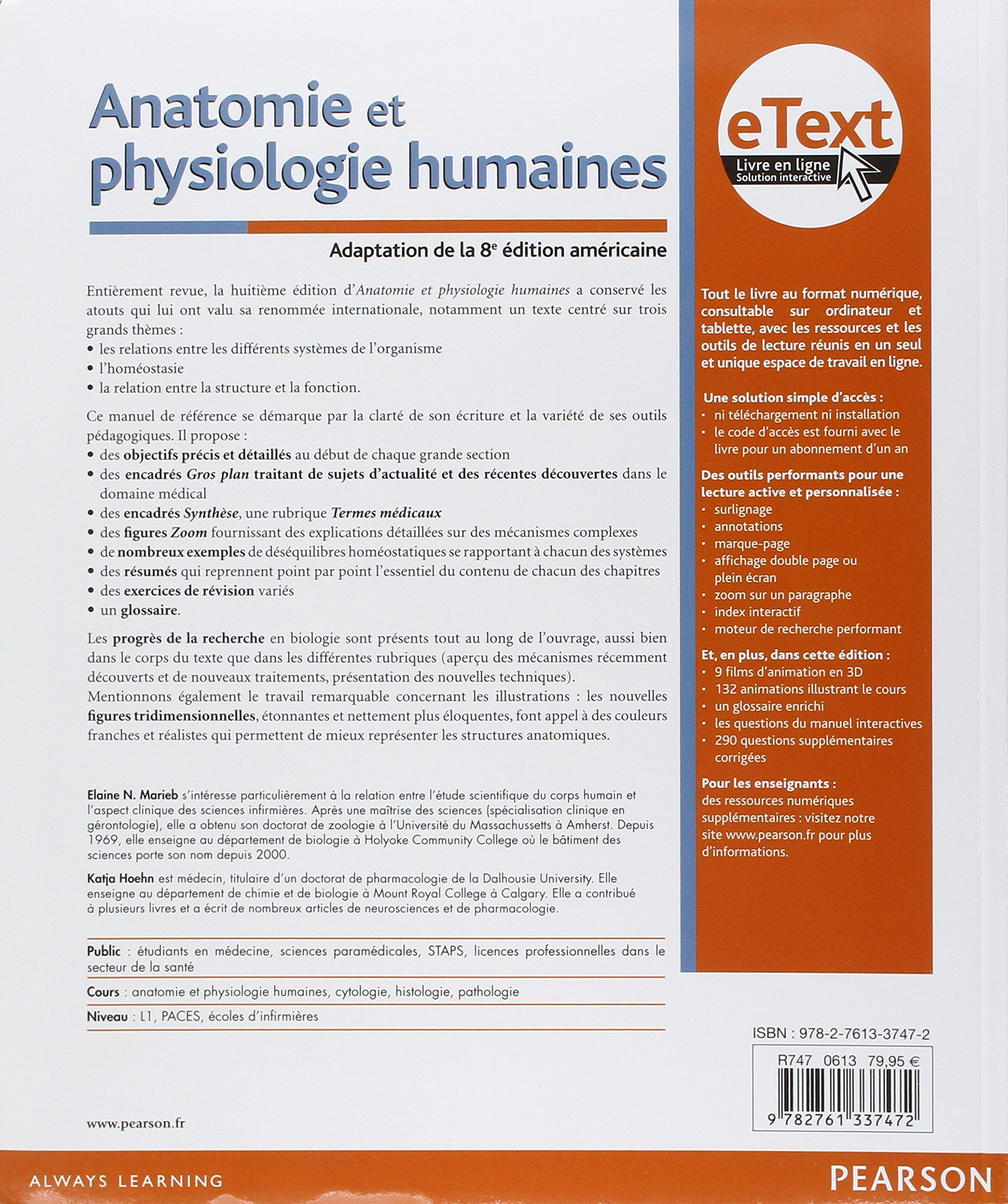Anatomie et physiologie humaine (French Edition): 9782761337472 ...
