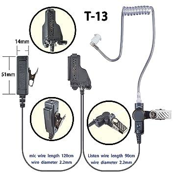 1-wire Surveillance Earpiece For Motorola GP1200 HT1000 XTS2500 RADIO