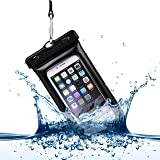 Power Theory Wasserdichte Handyhülle - Wasserfeste Smartphone Beutel Tasche Handyschutz Schutzhülle Beachbag Handy Hülle Waterproof Case - iPhone X 8 7 6s 6 Plus 5s Samsung S8 S7 S6 Edge Handys bis 6 Zoll