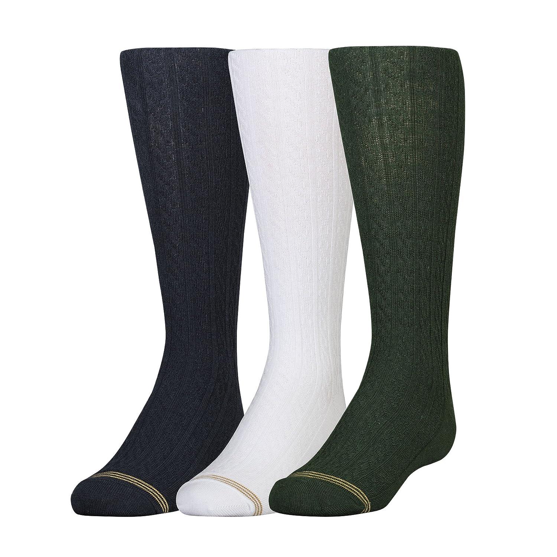 Pack of Three Gold Toe Big Girls  Knee-High Socks