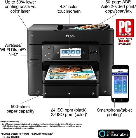 Amazon.com: Epson Workforce Pro WF-4740 Impresora de ...