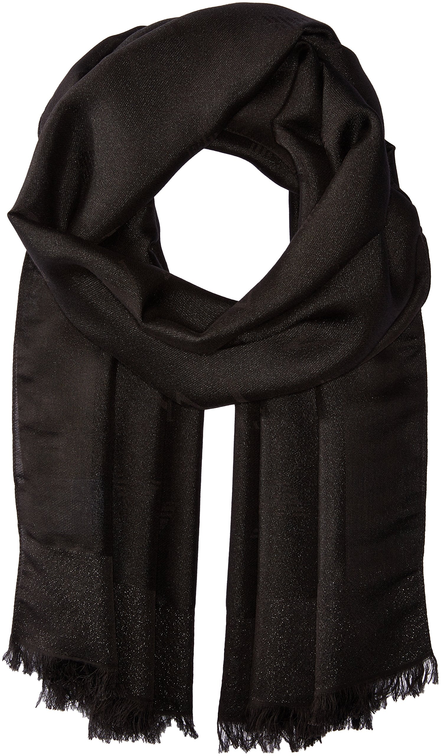 Armani Jeans Women's Solid Woven Scarf, black, One Size