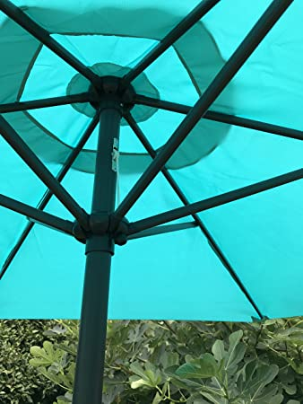 BELLRINO Replacement PEACOCK BLUE Umbrella Canopy for 9 ft 6 Ribs Canopy Only PEACOCK BLUE-96