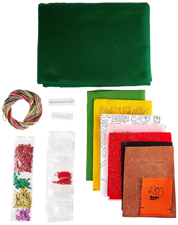 Bucilla Candy Snowman Tree Skirt Felt Applique Kit 86307 43-Inch Round
