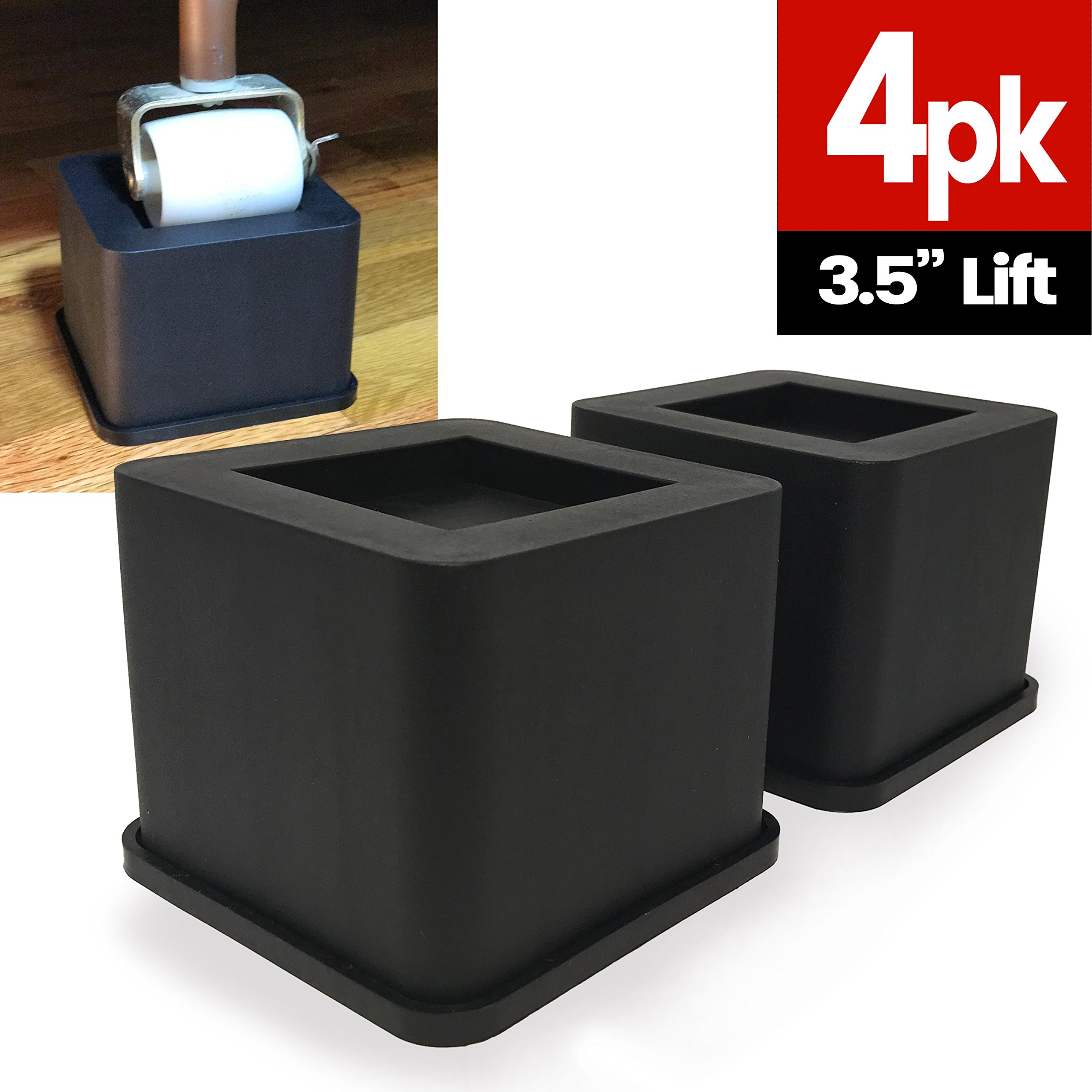 best rated in bed risers helpful customer reviews. Black Bedroom Furniture Sets. Home Design Ideas