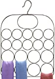 DecoBros Supreme 19 Loop Scarf / Belt / Tie Hanger Organizer Holder, Chrome