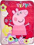 "Entertainment One Peppa Pig Peppa's Picnic Micro Raschel Throw, 46 x 60"""