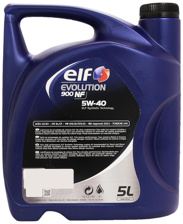 Aceite lubricante coche Elf Evolution 900 NF 5W40 5Ltrs: Amazon.es: Coche y moto