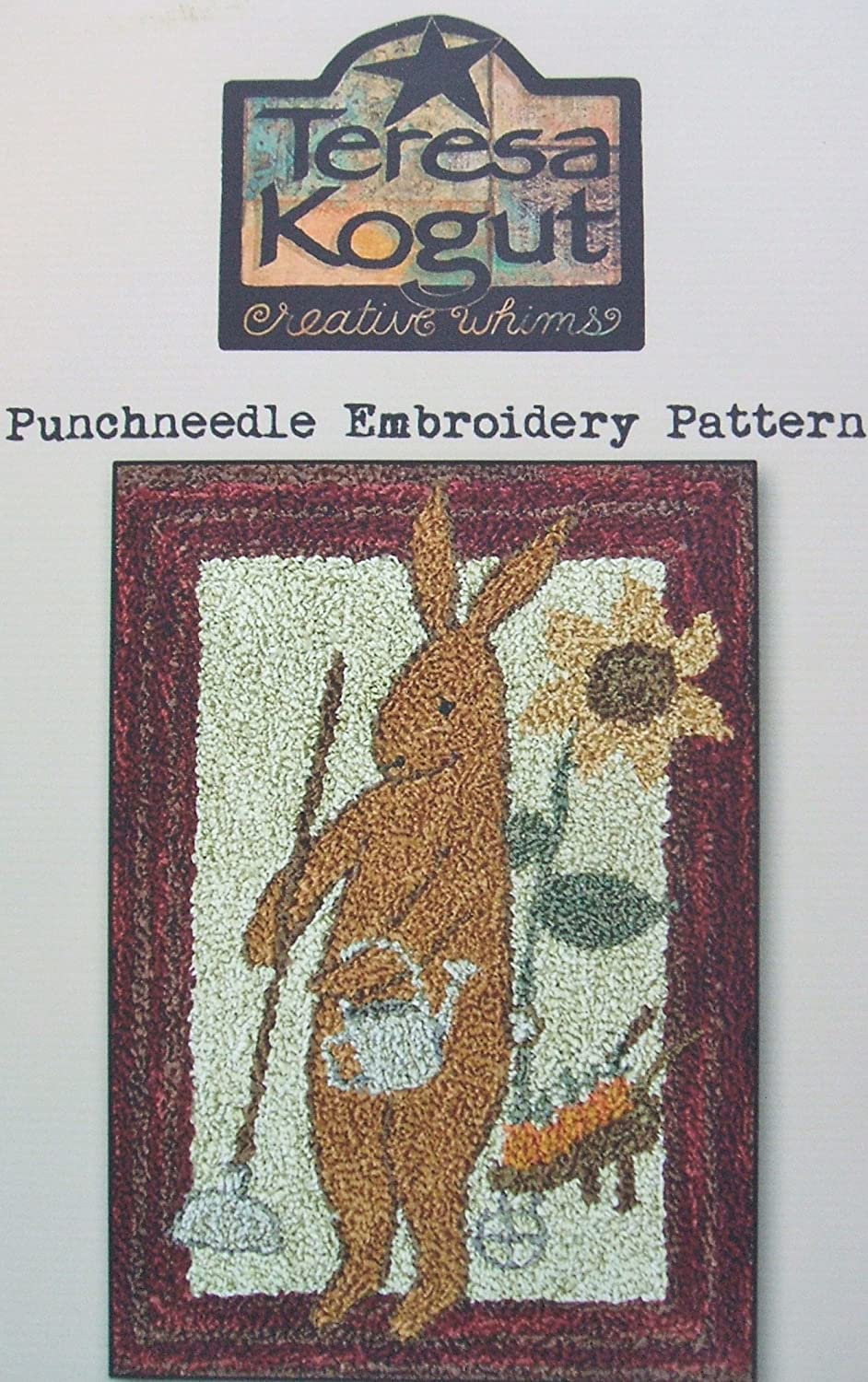 Prim Spring Rabbit PN173 Punchneedle Punch Needle Embroidery Easter Bunny Teresa Kogut Pattern