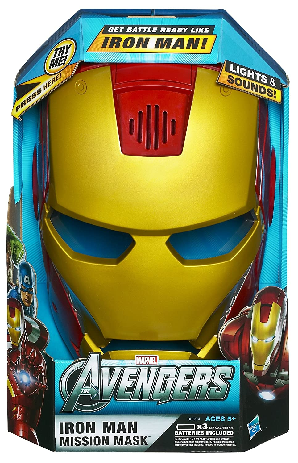 Amazon.com: Marvel The Avengers Iron Man Mission Mask Accessory: Toys & Games