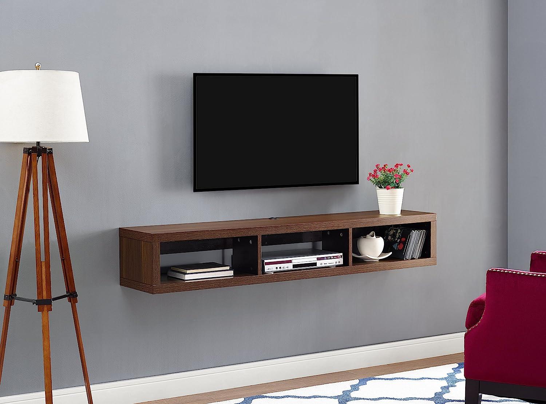Martin Furniture Floating Consola de TV, Madera, Nuez Colombia, 60 Inches: Amazon.es: Hogar