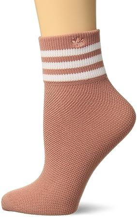 Adidas Agron Calcetines de Las Mujeres Originales Malla Rayas Tobillo único Quarter Calcetines, Mujer, Rosa y Blanco: Amazon.es: Deportes y aire libre