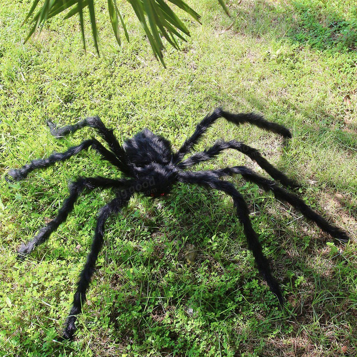Behemoth - 5ft 150cm Hairy Giant Spider Decoration Huge Halloween Outdoor Decor Toy Party - Titan Goliath Jumbo Gargantuan Heavyweight Monster Star Colossu - 1PCs