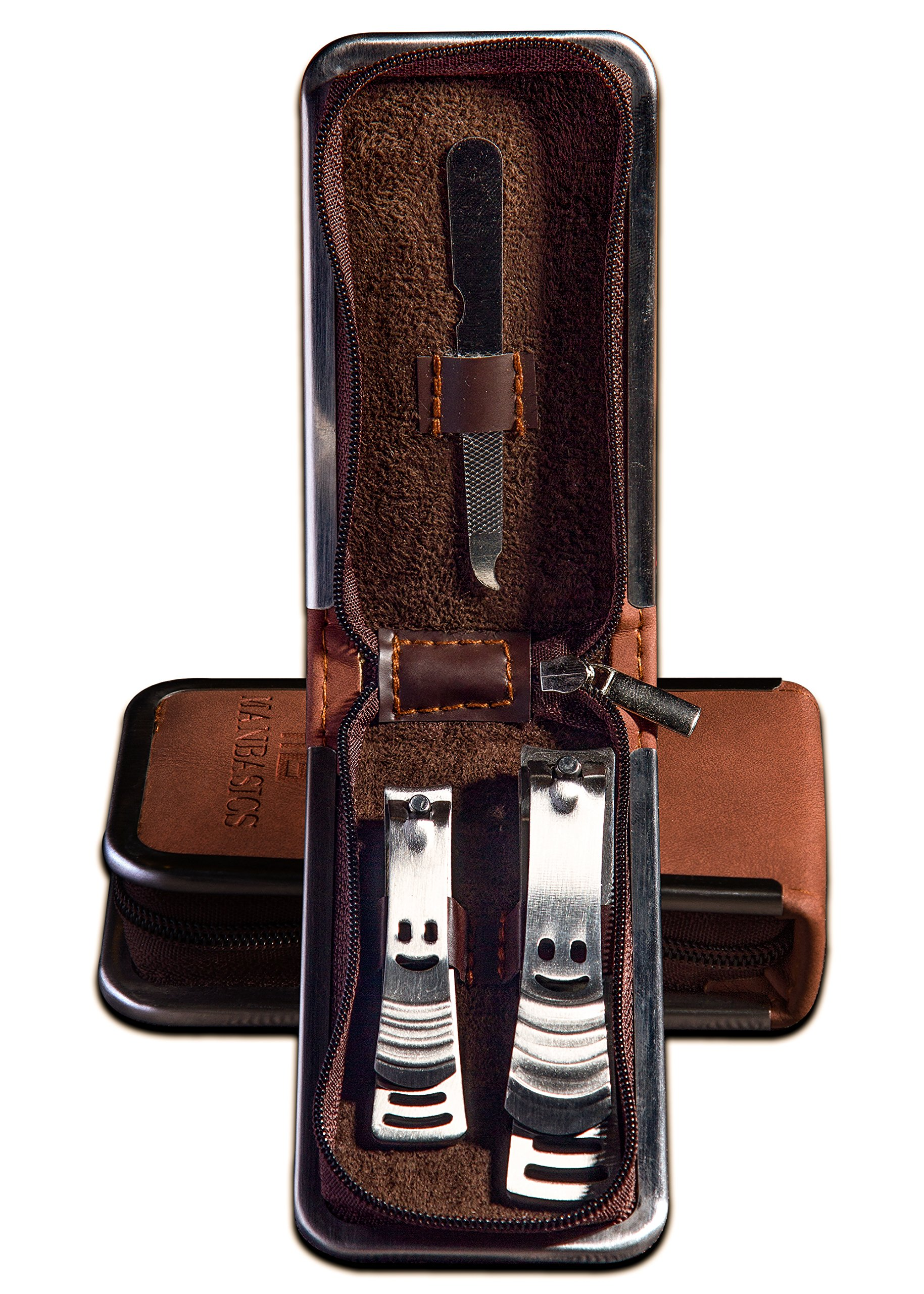 Mens Nail Clippers Set by Man Basics® Stainless Steel Manicure Set ...