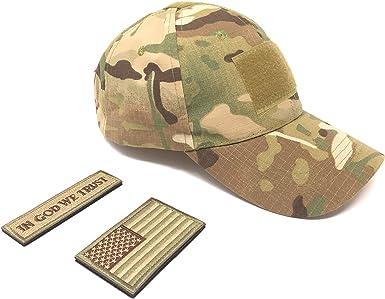 Emproda - Gorra táctica con parches de la bandera de Estados ...