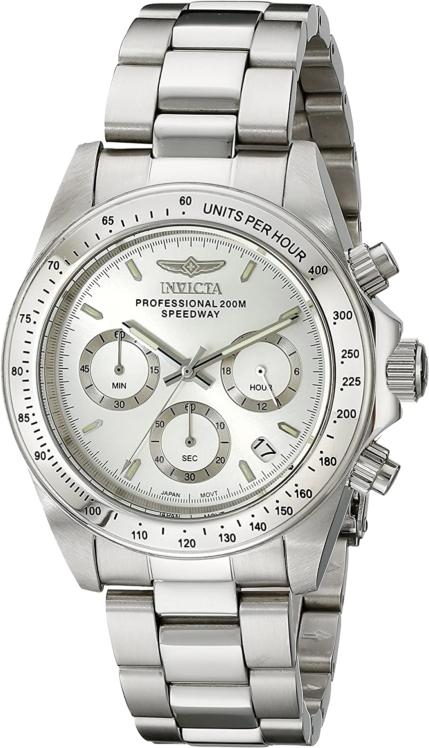 Invicta Men s 14381 Speedway Chronograph Stainless Steel Watch with Link Bracelet