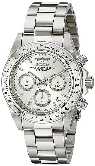 Invicta Caballero 14381 Speedway cron-grafo Silver Dial Stainless Steel Reloj: Amazon.es: Relojes
