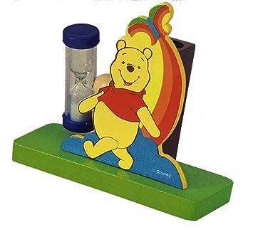 Porta cepillo de dientes con reloj de arena, para niños Winnie the Pooh,