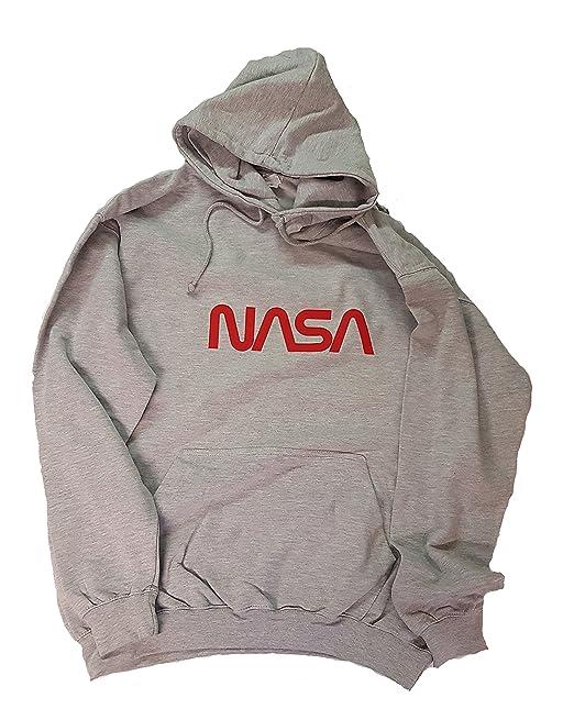 Toykoshi Sudadera con capucha con el logo «worm» oficial de la NASA para hombre, producto autorizado (VP): Amazon.es: Ropa y accesorios