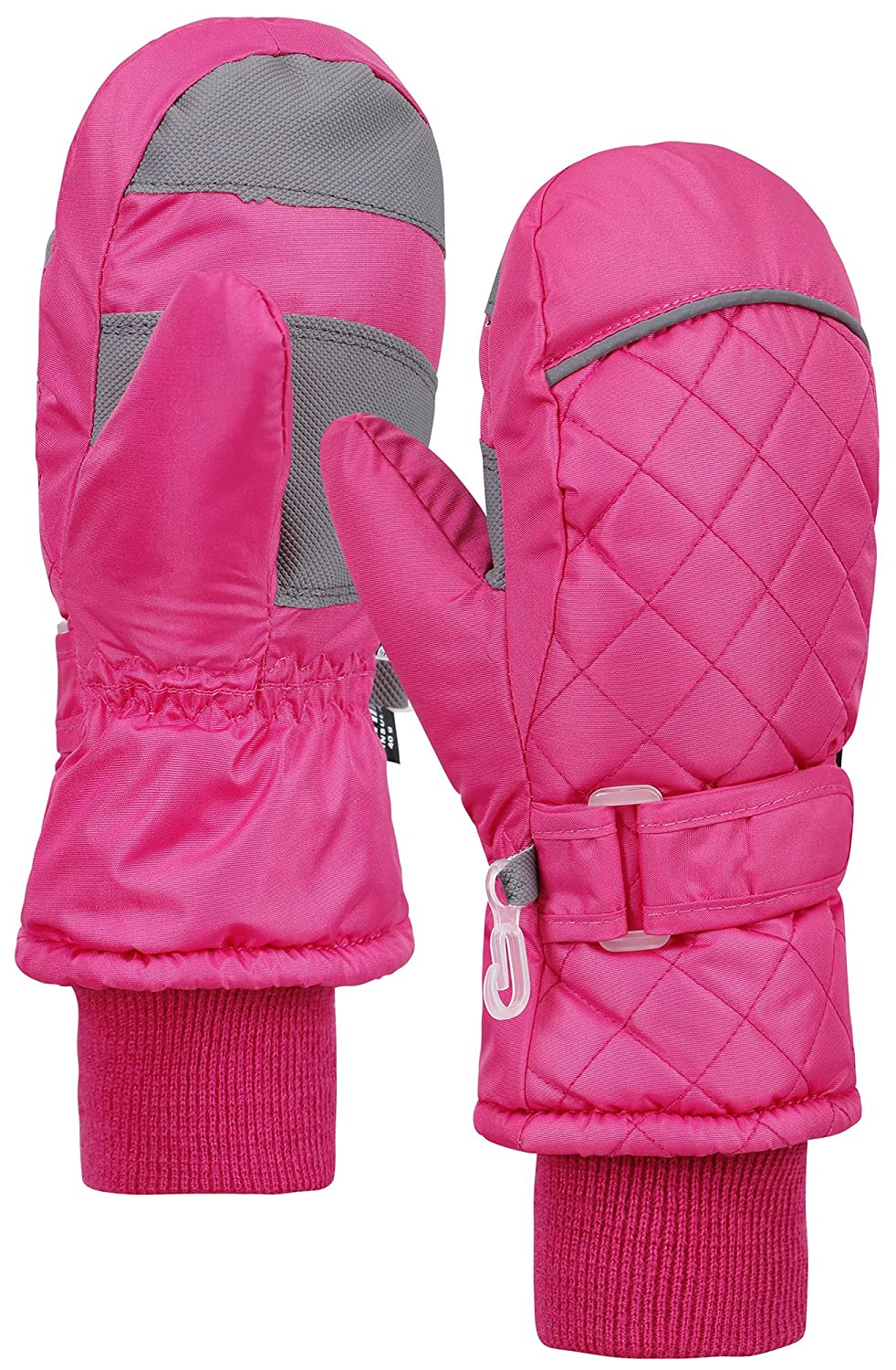 ANDORRA Kids Weather-Proof Thinsulate Winter Mittens, Long Snow Cuff