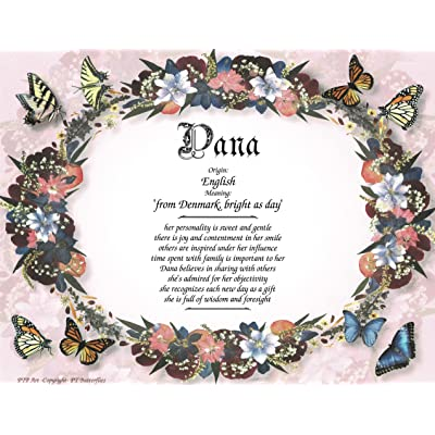 "Butterflies - Personalized ANY First Name Meaning Keepsake Print 8.5"" x 11"" 