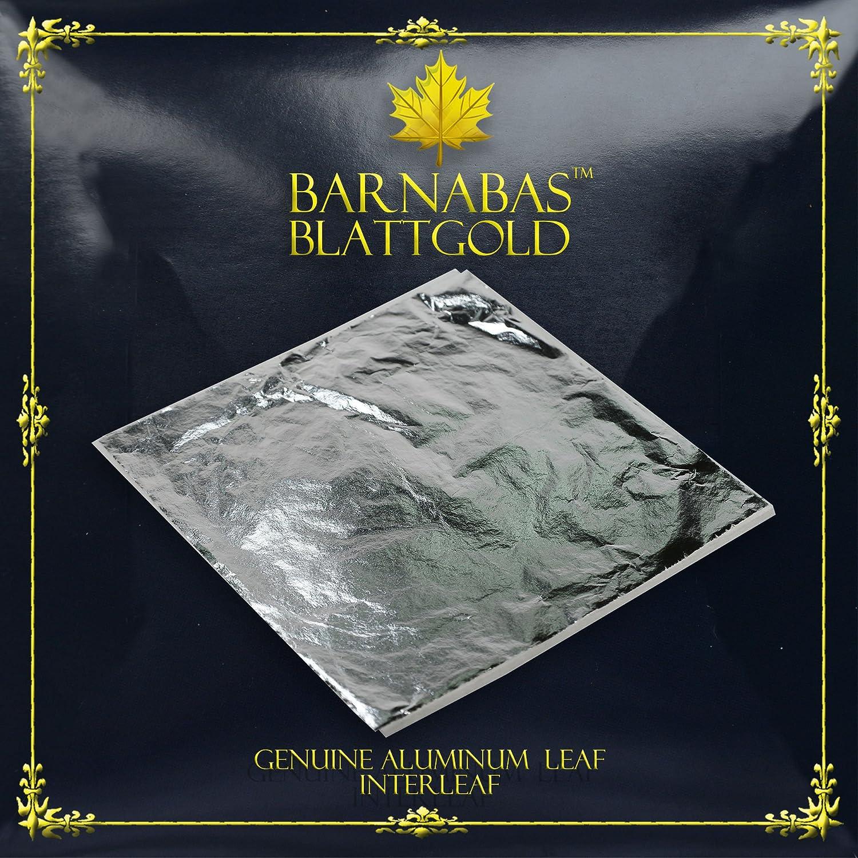 Imitation Silver Leaf Sheets - by Barnabas Blattgold - 100 Sheets - 16cm Interleaved BKT-ISL-25