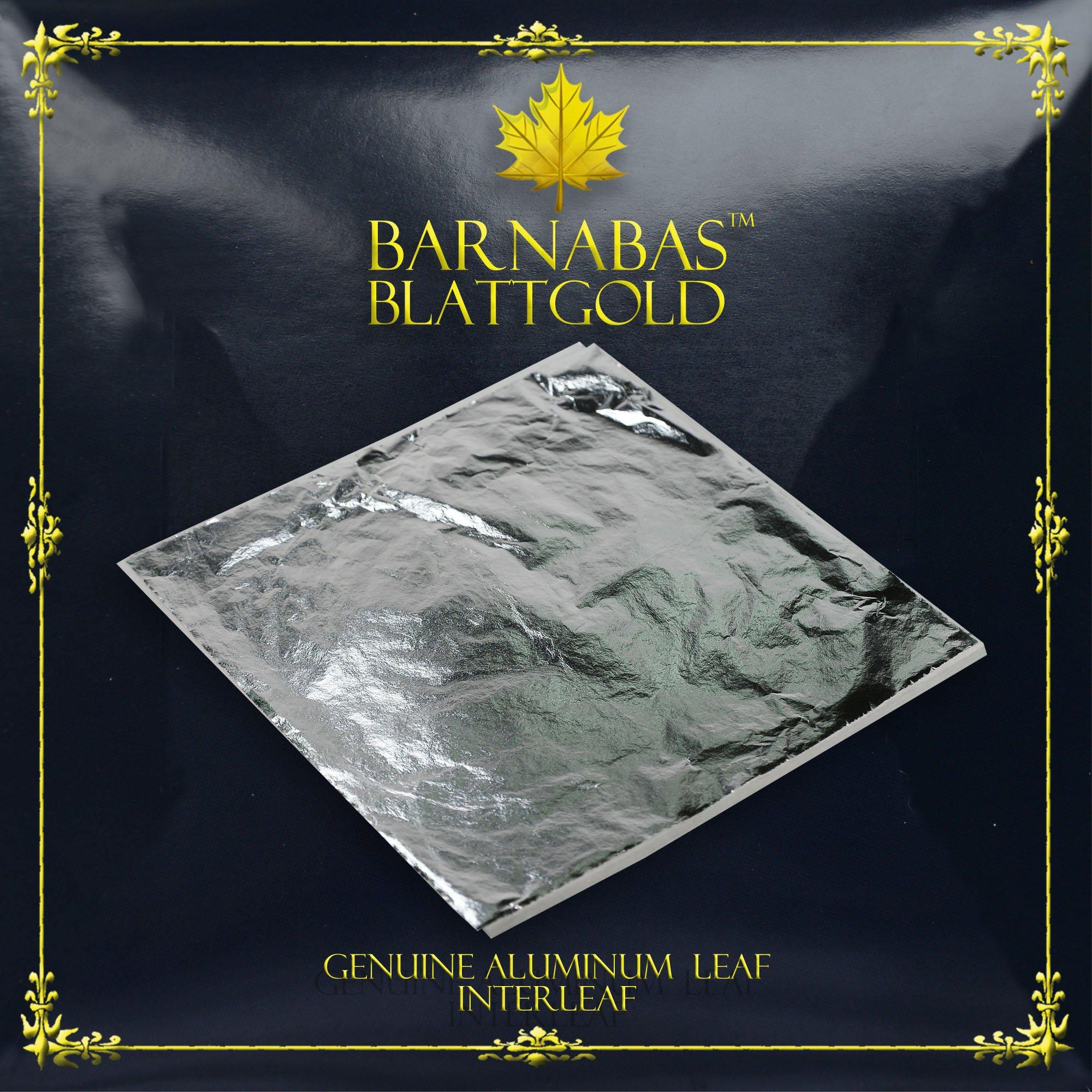 Imitation Silver Leaf 1000 Sheets,16cm Interleaved by BARNABAS BLATTGOLD
