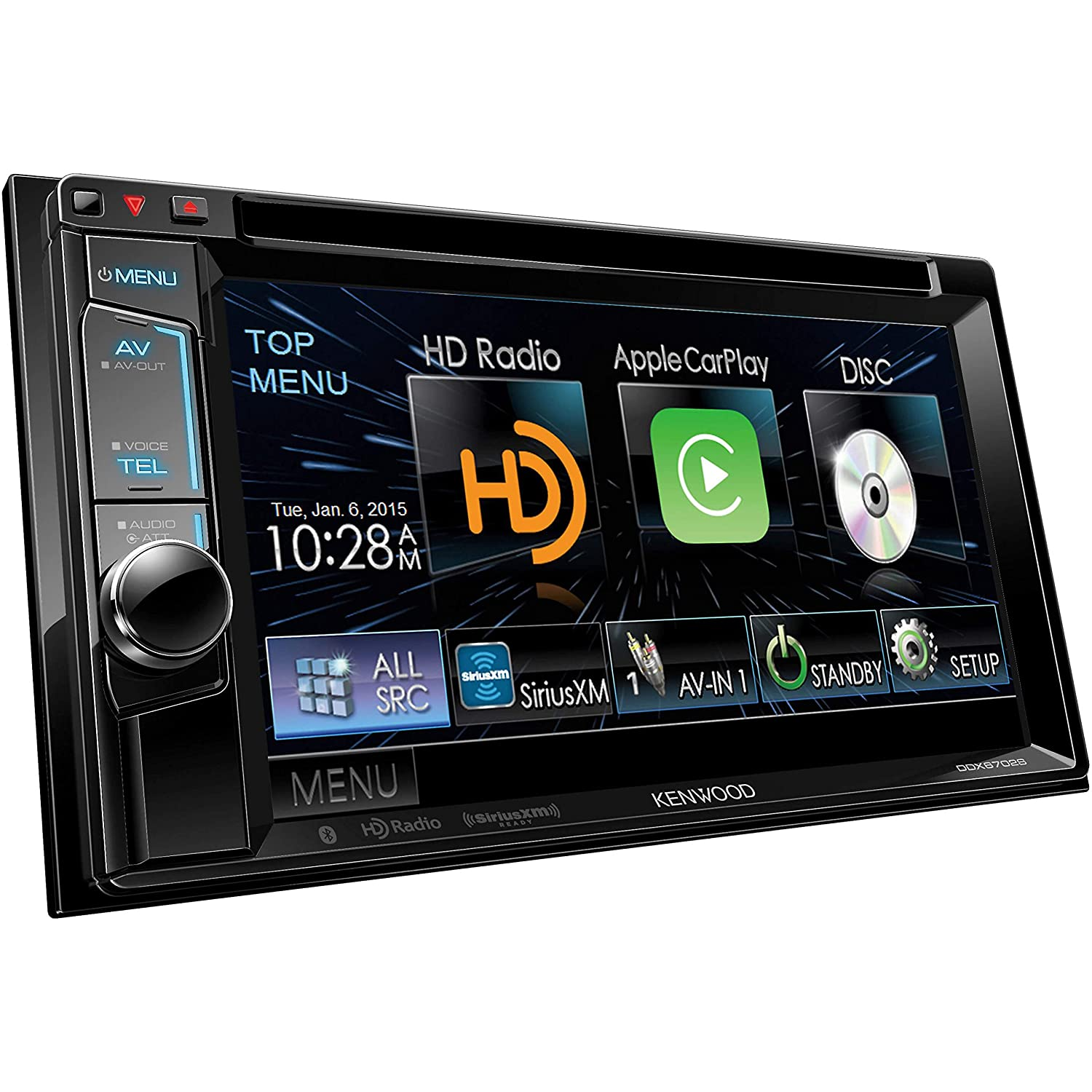 Kenwood Ddx6702s 62 Dvd Receiver With Apple Carplay Chevy Xm Radio Wiring Harness Color Code Bluetooth And Hd Car Electronics