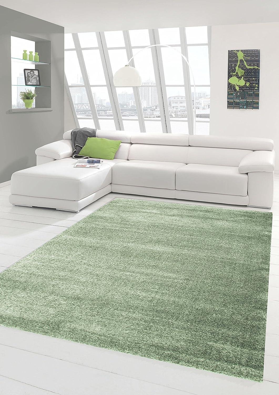 Traum Designer Teppich Moderner Teppich Wohnzimmer Teppich Kurzflor Teppich mit Uni Design Mint Größe 120x170 cm B01N3XINV1 Teppiche