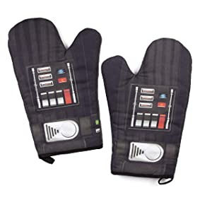 Star Wars Darth Oven Mitt Set - Grill and Cook on The Dark Side - One Size - Pair of 2