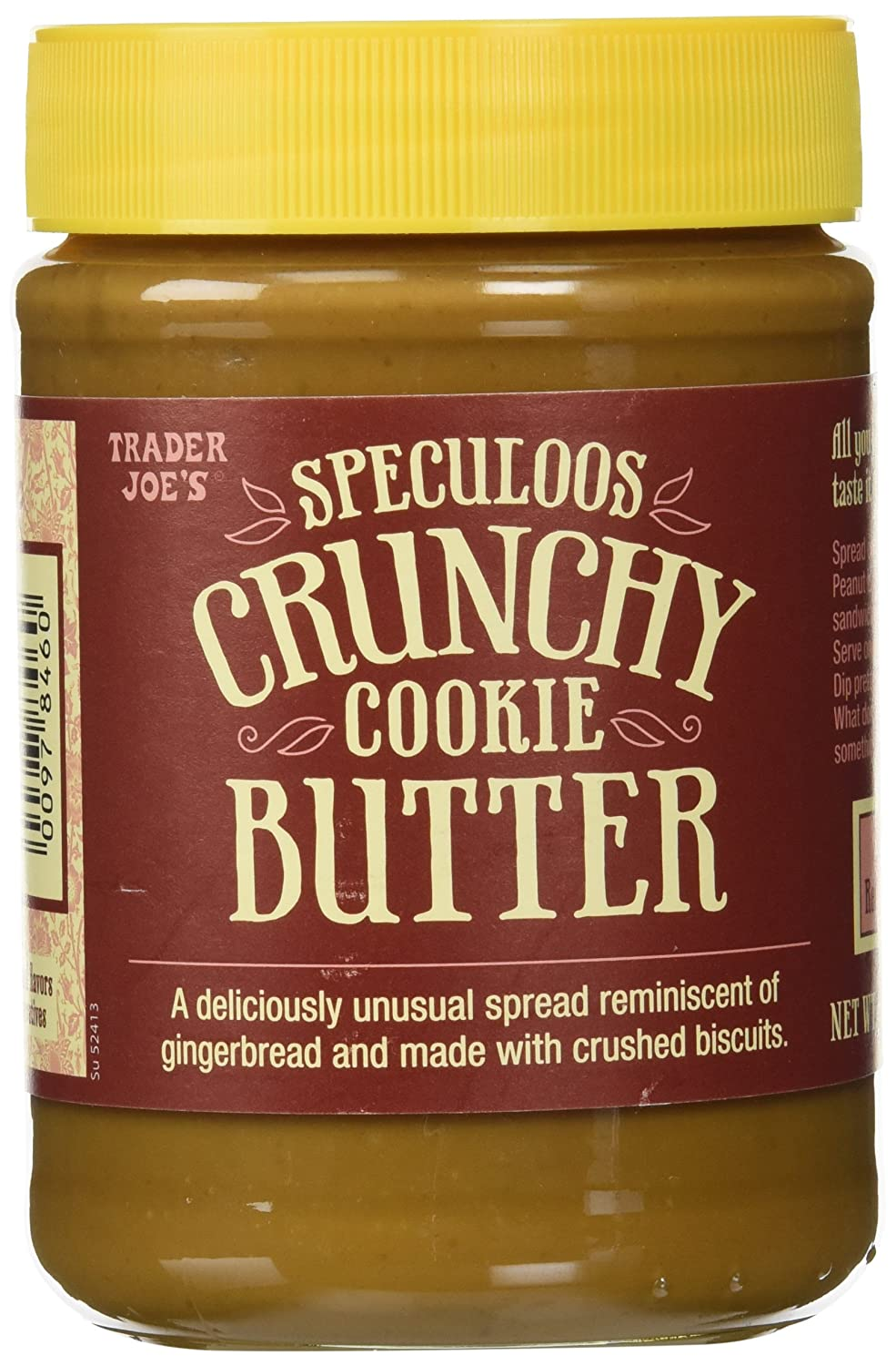 Trader Joe's Speculoos Crunchy Cookie Butter 14.1 ounces