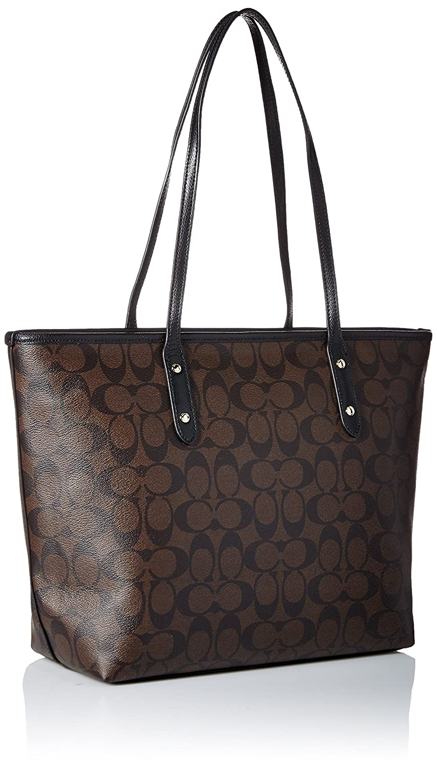 Buy coach signature city zip tote - brown black Online at Low Prices in  India - Amazon.in 0f3fe65e006f3