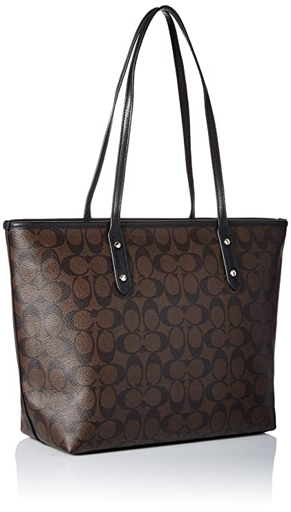 e3d4d33da4 Buy coach signature city zip tote - brown black Online at Low Prices in  India - Amazon.in