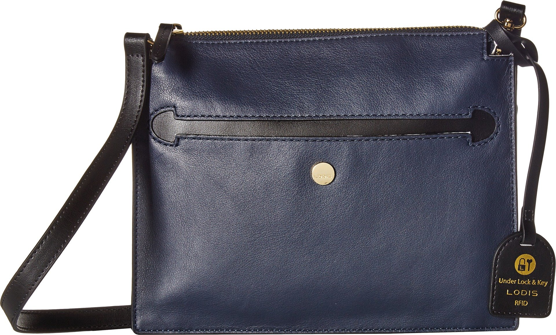 Lodis Downtown RFID Kay Accordion Crossbody (Navy/Black) by Lodis