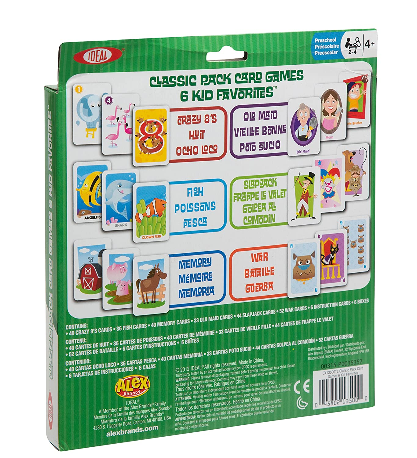 Amazon Ideal Classic Pack Card Games Toys & Games