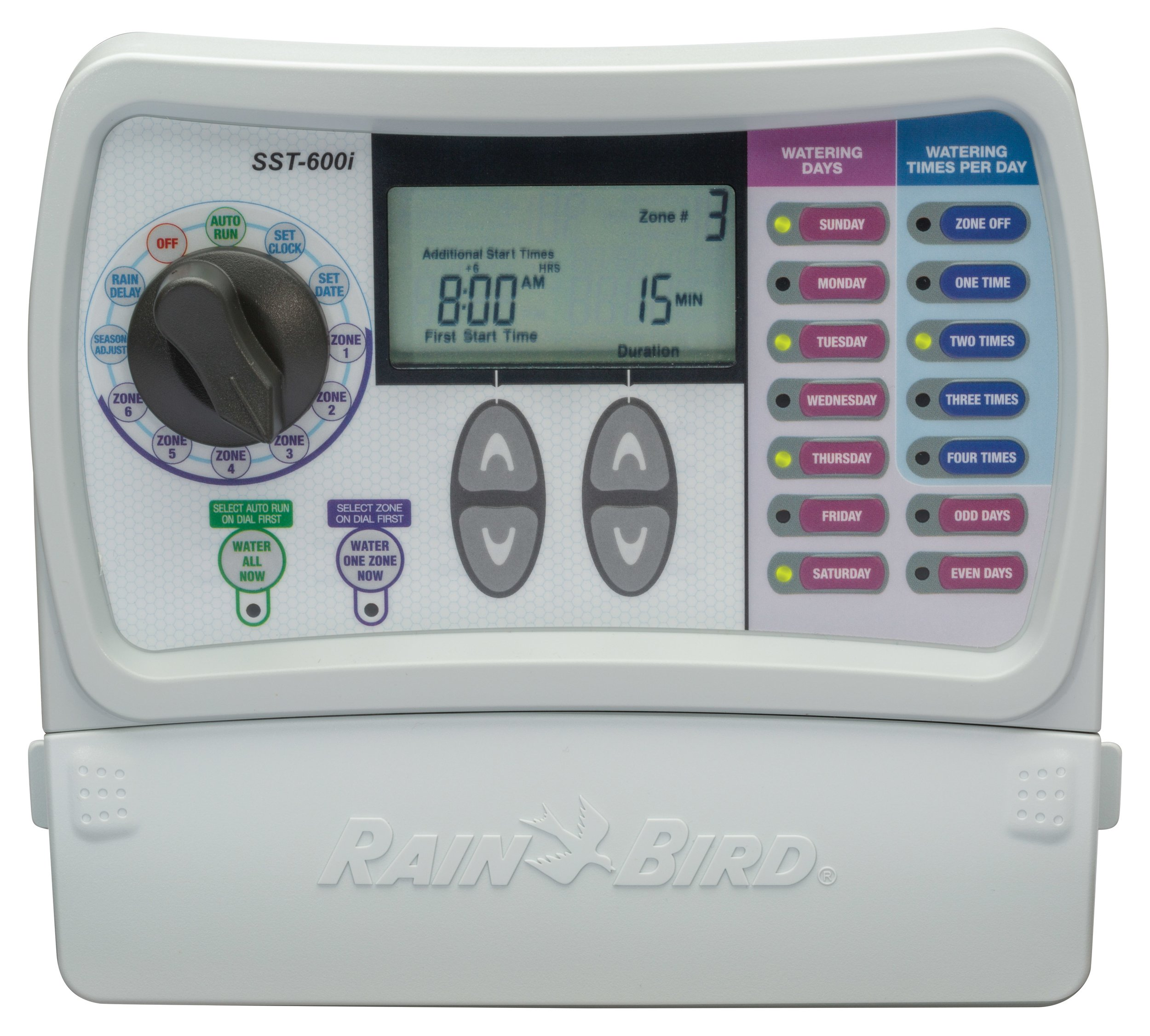 Rain Bird SST600I Simple To Set Indoor Timer, 6-Zone (Discontinued by Manufacturer; replaced by SST600IN)