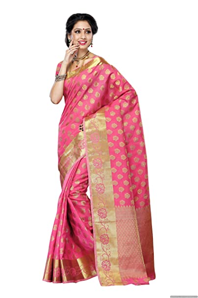 8fc5771ff0 Mimosa Women's Tassar Silk Saree With Blouse Piece (179-Gajj,Gajjari,Free  Size): Amazon.in: Clothing & Accessories
