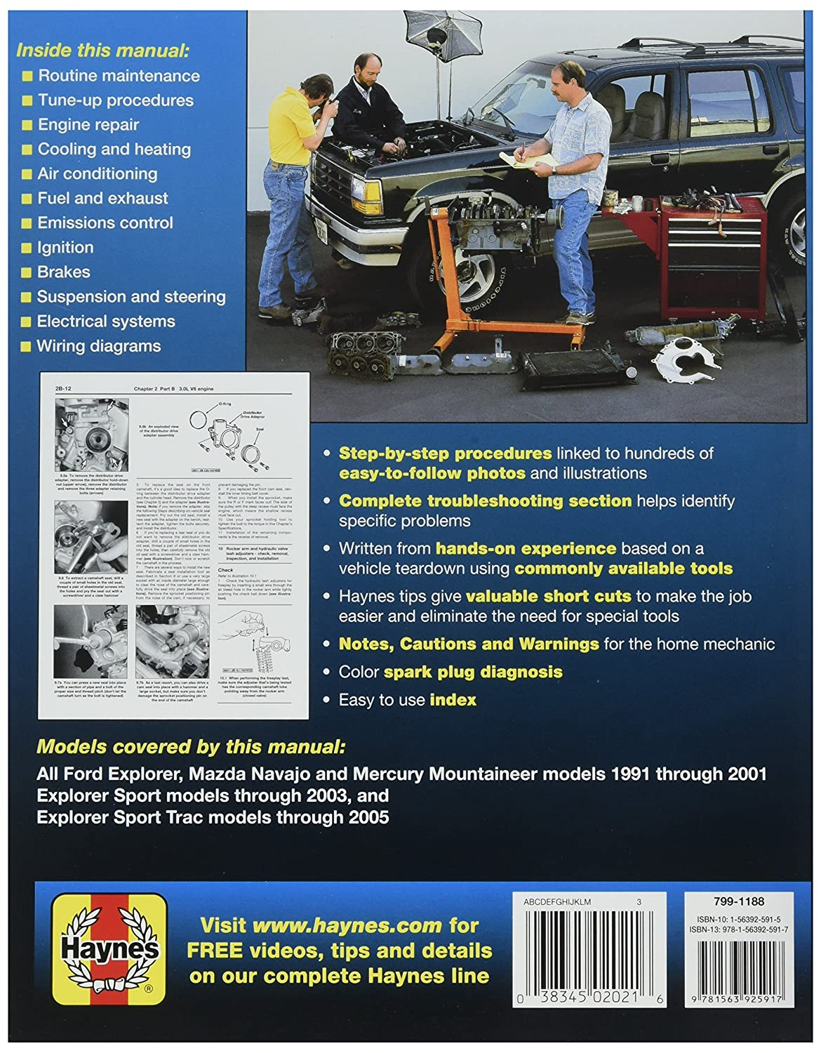 Haynes Publications Inc 36024 Repair Manual Automotive Wiring Diagram 2001 Explorer Sport Trac