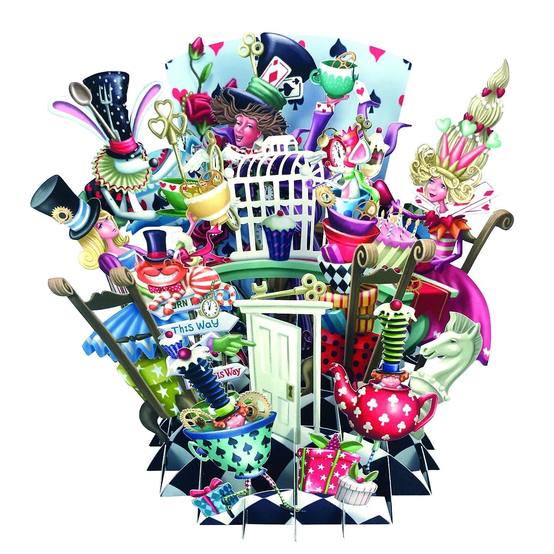Birthday Party Time - Biglietto d'auguri 3D pop-up, per festa di compleanno, biglietto artistico Paper D' Art TW020