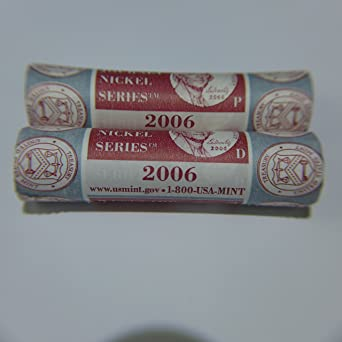 2006 P D Westward Journey Nickel Series 2 Mint Wrapped Rolls Uncirculated At Amazons Collectible Coins Store