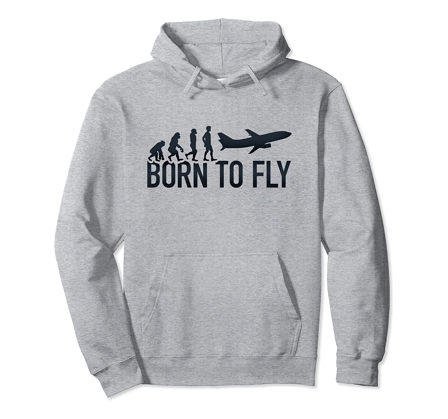 Airplane Pilot Evolution Flying Gift Born To Fly Hoodie-Colonhue