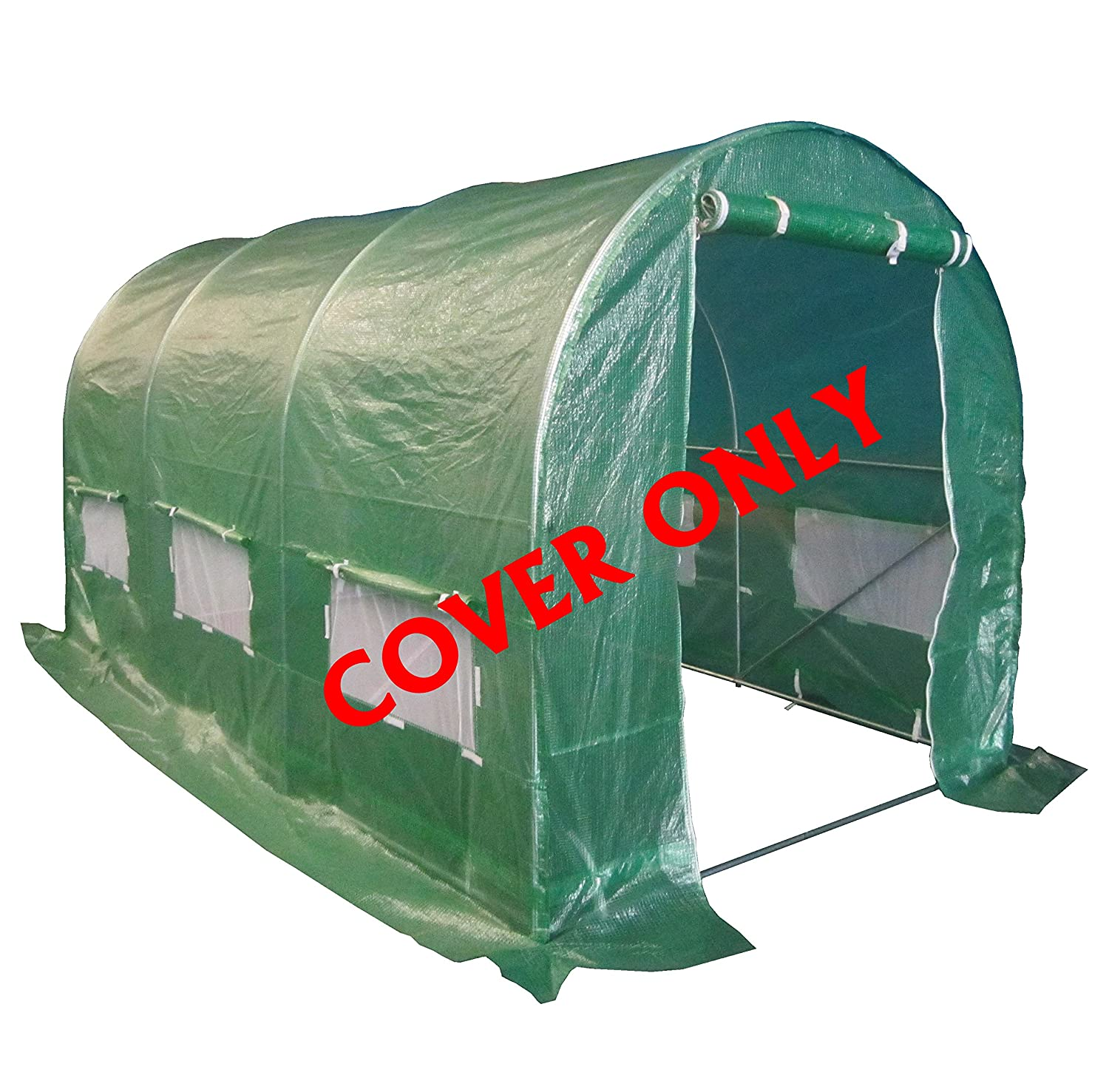 FoxHunter 4M(L) x 2M(W) x 2M(H) Polytunnel Greenhouse Pollytunnel Poly Polly Tunnel 3 Section Cover Only