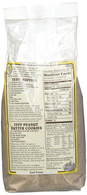 Amazon.com : Bob's Red Mill Whole Grain Teff Flour, 24 Ounce : Grocery & Gourmet Food