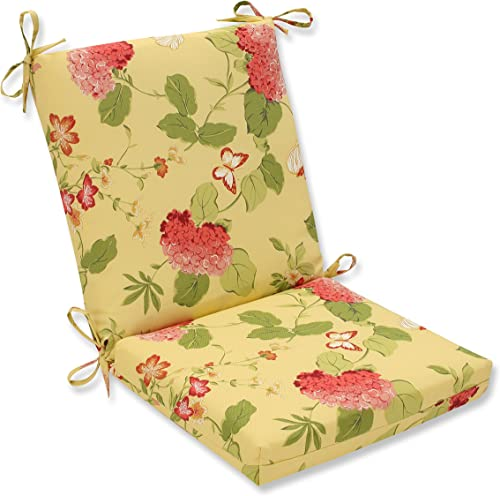 Pillow Perfect Outdoor Indoor Risa Lemonade Square Corner Chair Cushion, 36.5 x 18 , Gold