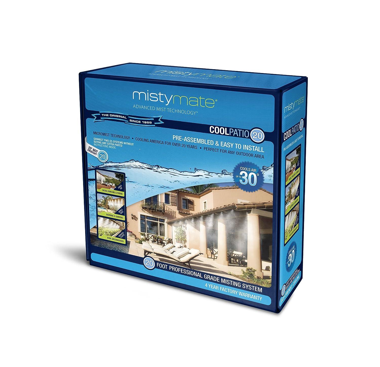 Amazon.com : MistyMate 16020 Cool Patio 20 Outdoor Misting Kit ...