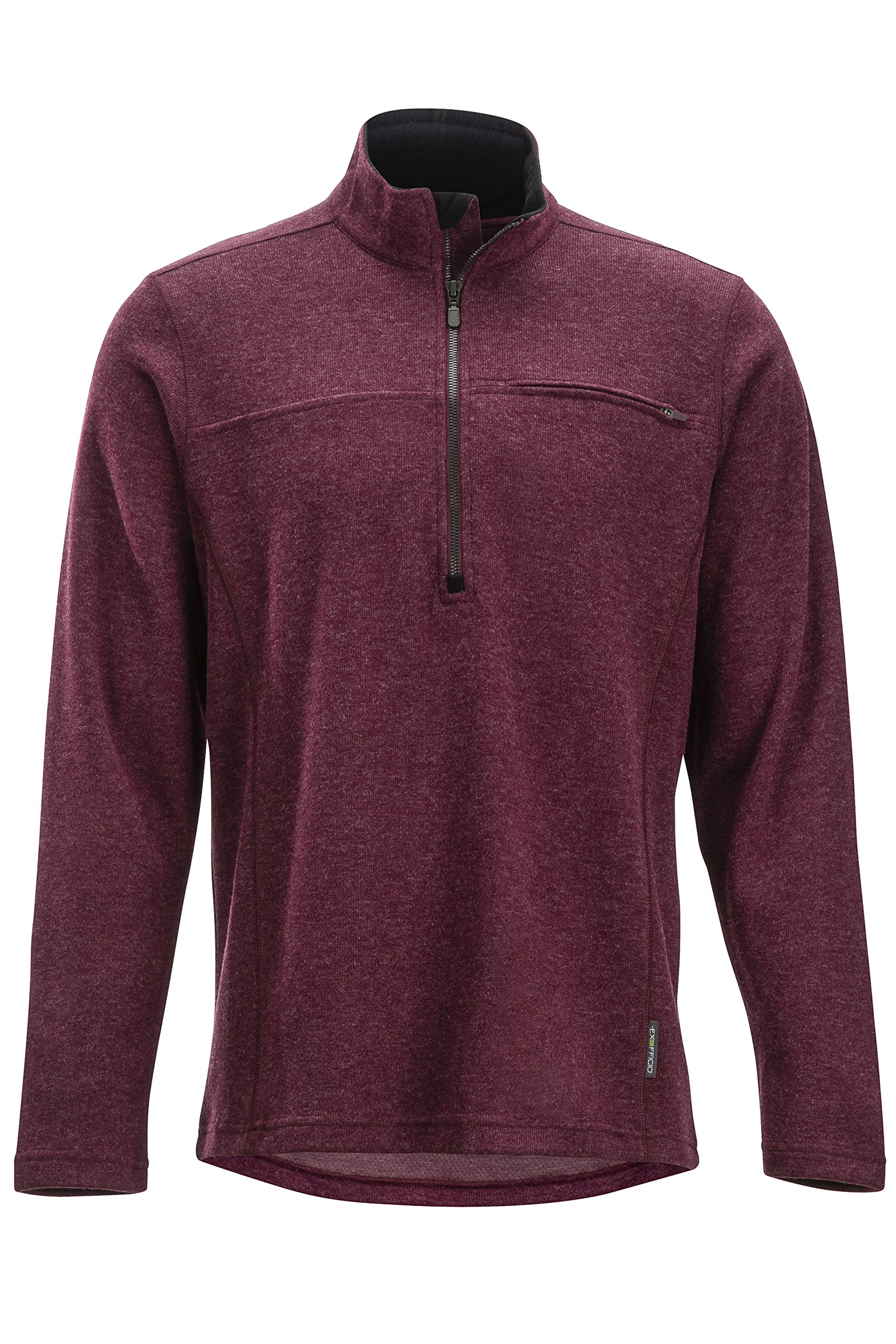 ExOfficio Men's Caminetto 1/4 Zip Neck Long Sleeve Hiking Shirts, Baroque Heather, Large by ExOfficio