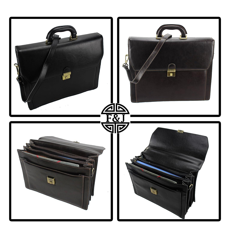 d6d7de6c2a Frédéric Johns Cartable en cuir 4 compartiments - cartable cuir - porte  documents homme ou femme